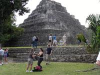 Pyramids Near Costa Maya